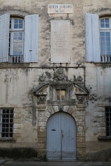 Ancien hôtel de Girard - English: The house of birth of Philippe de Girard in Lourmarin (Vaucluse, France)