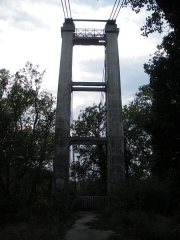 Pont des Arméniers ou des Arméniens - English: Arménier bridge, across Rhône, in Sorgues, Vaucluse, France