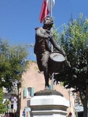 Monument au Tambour d'Arcole -  Photo de la statue du tambour d'arcole à Cadenet, Vaucluse, France.