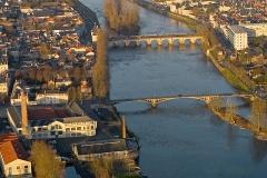 Pont Camille-de-Hogues -  Vue sud du centre de Châtellerault.