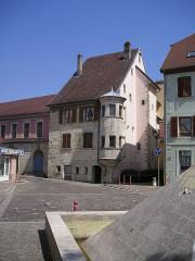 """Maison dite """" maison à tourelle """" - Deutsch: Delle Frankreich Mittelalterliches Haus"""