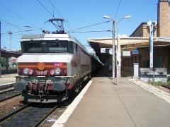 Gare de Belfort - English: French main lines train stopping at Belfort station, in Territoire de Belfort department.