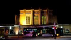 Gare de Belfort - English: Front of Belfort station, France, by night.