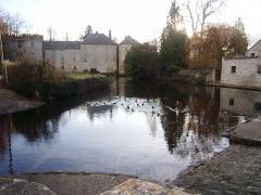 Château de Milly-la-Forêt (également sur commune de Oncy-sur-Ecole) - English: École river in Milly-la-Forêt, Essonne, France.