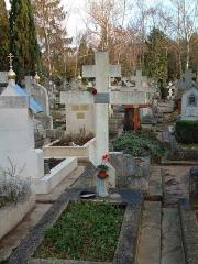 Cimetière de Liers - Deutsch:   Georgij Iwanow Grab auf dem Russischen Friedhof von Sainte-Geneviève-des-Bois Russian Cemetery