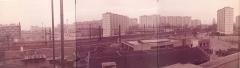 Ancienne Ecole Supérieure d'Électricité, actuelle Faculté de droit de l'Université René-Descartes - Paris V - English: Supélec view to the railtracks to Paris-Montparnasse in the 1970s. Malakoff (Hauts-de-Seine, France).