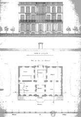 Ancienne usine Coignet - English: 1855 architectural drawing of