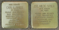 Camp de Drancy, puis Cité de la Muette - Deutsch: Stolpersteine für Carl und Dr.Hilde Spier / Gleueler Str. 163 (Köln-Lindenthal)