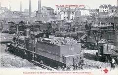 Anciens ateliers de réparation SNCF de La Plaine - Français:   Carte postale ancienne éditée par CCCC - FF N°66 Les locomotives (Nord): Vue générale du garage des machines au dépot de la Plaine Saint-Denis