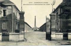 Ancienne manufacture d'allumettes, actuellement siège de la Documentation française - Français:   La Manufacture d\'Allumettes à Aubervilliers