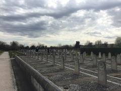Cimetière musulman - Français:   Le carré militaire du Cimetière musulman de Bobigny, en mars 2017.