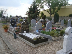 Cimetière musulman - Français:   Tombes modernes du cimetière musulman de Bobigny.