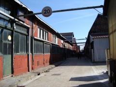 Usine de l'Orfèvrerie Christofle - Français:   Voie de circulation interne dans l\'usine Christofle de Saint-Denis