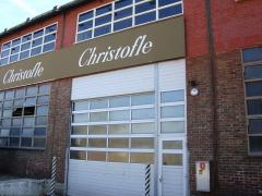 Usine de l'Orfèvrerie Christofle - Français:   Façade de l\'ancienne usine d\'orfèvrerie Christofle à Saint-Denis