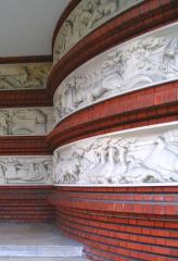 Groupe scolaire Jules-Ferry -   Groupe scolaire Jules Ferry - Maisons-Alfort - France 1932 -  Entrée des élèves - Sculptures par Maurice Saulo