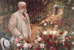 Roseraie du conseil général du Val-de-Marne, ancienne roseraie Gravereaux - Français:   Jules Gravereaux dans sa roseraie