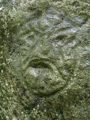 Site du Plessis 2 - Français:   Pétroglyphe Arawak, rivière Plessis (Guadeloupe)