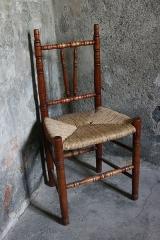 Lazarets de La Grande Chaloupe - Français:   Chaise du Gol en exposition dans le quartier d\'isolement du lazaret n°1 de la Grande Chaloupe à La Réunion.
