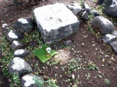 Lazarets de La Grande Chaloupe -  Offrande dans le cimetière du Lazaret I