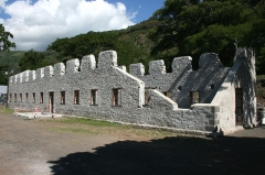 Lazarets de La Grande Chaloupe - Français:   Vue du dortoir du premier des lazarets de la Grande Chaloupe, à La Réunion.