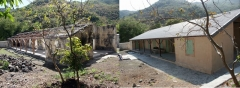 Lazarets de La Grande Chaloupe -  Infirmerie du Lazaret I avant et après restauration