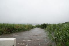 Cheminée dite de Beaufonds - Français:   Bras de la Ravine Sèche lors du passage de la tempête Haliba