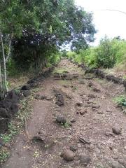Chemin dit des Anglais - Français:   Aspects du chemin des Anglais entre La Possession et La Grande Chaloupe, 6 mai 2015.