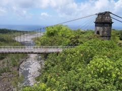 Pont suspendu de la rivière de l'Est -  The old bridge over the Rivière de l'Est (Réunion island)