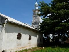 Minaret de la Mosquée -  La mosquée de Tsingoni à Mayotte.