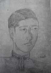 Eglise - 中文: 三島由紀夫的自畫像,畫於學習院中登科。