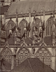 Cathédrale Saint-Pierre Saint-Paul - English:  Collection: A. D. White Architectural Photographs, Cornell University Library  Accession Number: 15/5/3090.00377  Title: Troyes Cathedral. Nave exterior from South  Photographer: Gustave Lancelot (French, 1830-1906)    Photograph date: ca. 1870-ca. 1886  Building Date: 13th-15th century    Location: Europe: France; Troyes  Materials: albumen print  Provenance: Gift of Andrew Dickson White  Persistent URI: http://hdl.handle.net/1813.001/5shn  There are no known copyright restrictions on this image.  The digital file is owned by the Cornell University Library which is making it freely available with the request that, when possible, the Library be credited as its source.    We had some help with the geocoding from http://developer.yahoo.com/