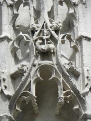 Eglise Saint-Jean - Dais d'une niche méridionale de l'église Saint-Jean de Troyes (10).