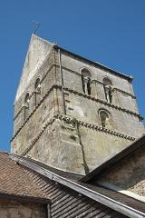 Eglise - Deutsch: Kirche, Église de l'Assomption (Mariä Himmelfahrt), in Blesme im Département Marne (Region Grand Est/Frankreich), Glockenturm