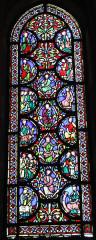 Eglise Notre-Dame-en-Vaux et son cloître - English: Châlons-en-Champagne, Collégiale Notre-Dame-en-Vaux, lead-glass window