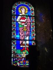 Eglise Notre-Dame-en-Vaux et son cloître - Vitrail de la collégiale Notre-Dame-en-Vaux à Châlons-en-Champagne (Marne, France)