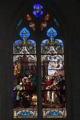 Eglise Saint-Symphorien - Deutsch: Katholische Kirche Saint-Symphorien in Ponthion im Département Marne in der Region Grand Est/Frankreich, Bleiglasfenster