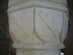 Ancien archevêché, actuellement Palais du Tau - Salle basse du Palais du Tau à Reims (Marne, France), chapiteau