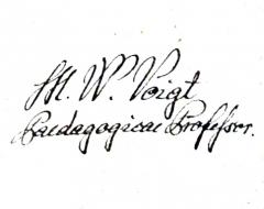 Eglise de Faremont - English: Signatur of Vaclav Voigt
