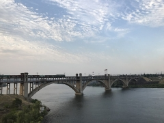 Eglise de Faremont - Українська: Міст Преображенського через р. Дніпро в м. Запоріжжя, серпень 2018