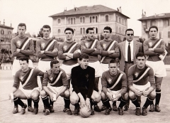 Enceinte protohistorique dite Camp des Louvières -  Perugia (Italy), Santa Giuliana Stadium, April 22, 1962. A line-up of A.C. Perugia took to the field in the home tie versus U.S. Livorno (1-1), Matchday 29 of the Italian Third League 1961–62 Serie C, group B.
