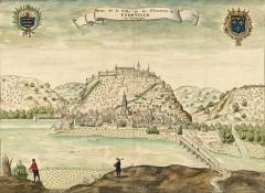Eglise Notre-Dame -  Veüe de la Ville et du Chasteau de Ioinville en Champagne