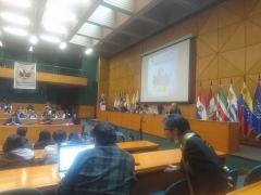 Chapelle Saint-Berchaire - English: El 4to. Congreso de Comunicación Comunitaria se desarrolló en Quito en octubre del 2017, tanto en la Universidad Andina Simón Bolívar, como en la Universidad Central del Ecuador, bajo la premisa: ¡Medios Comunitarios Ya!