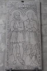 Eglise Saint-Pierre-Saint-Paul - Deutsch: Katholische Kirche Saint-Pierre-Saint-Paul in Chennevières-sur-Marne im Département Val-de-Marne (Île-de-France/Frankreich), Grabplatte