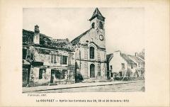 Eglise Saint-Nicolas -  Carte postale ancienne éditée par Farineau    Le Bourget, après les combats des 28, 29 et 30 octobre 1870