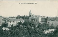 Eglise Notre-Dame-de-l'Assomption -  Carte postale ancienne N°23, sans indication d'éditeur   STAINS: Vue panoramique N°1