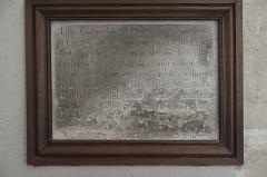 Couvent des Carmélites ou du Carmel - Deutsch: Karmelitinnenkloster in Pontoise im Département Val-d'Oise (Île-de-France/Frankreich), Gedenktafel