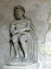 Ermitage de Saint-Clair - Français:   Statue du Christ à la couronne d\'épines ou Christ aux liens assis provenant de l\'Ermitage Saint Clair.