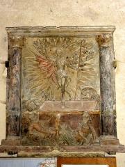 Ermitage de Saint-Clair - Français:   Bas-relief représentant la Résurrection, provenant de l\'Ermitage Saint Clair.