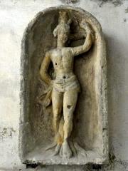 Ermitage de Saint-Clair - Français:   Haut-relief Saint Sébastien provenant de l\'Ermitage Saint Clair.