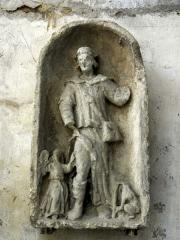 Ermitage de Saint-Clair - Français:   Haut-relief Saint Roch provenant de l\'Ermitage Saint Clair.